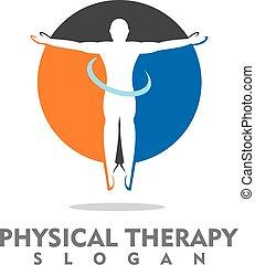 physische therapie, logo