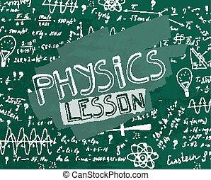 Physisches Schwarztafelbild