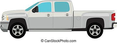 Pick-up-Vektor Illustration isoliert auf weiß