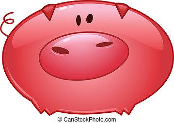 Pig Cartoon Ikone.