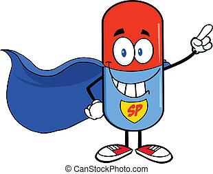 pille, super held, kapsel