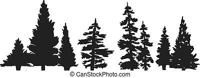 Pine Baum Silhouette.