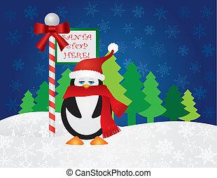 Pinguin bei Santa Stop hier unterschreiben.
