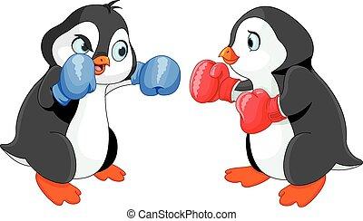 Pinguin-Boxen.