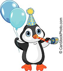 Pinguin Geburtstag.