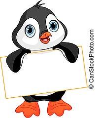 Pinguin-Schild.