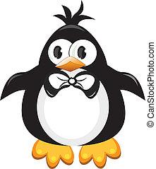 Pinguin-Zeichenvogel. Junge.