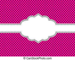 Pink Polka Dot Hintergrund
