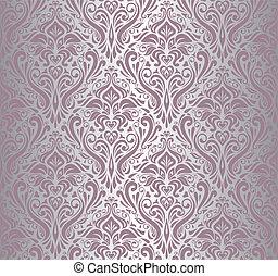 Pink & silberfarbene Tapete