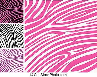 Pink zebra Hauttierdruckmuster.
