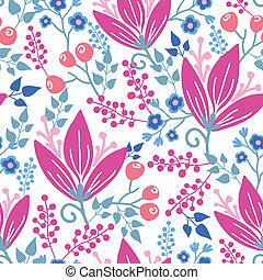 Pinke Blumen, nahtloser Hintergrund