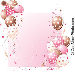 Pinke Geburtstagskarte