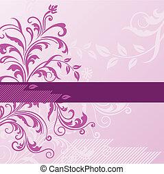 Pinker Blumen Hintergrund mit Banner