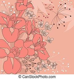 Pinker Blumen Hintergrund