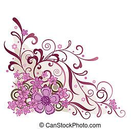 Pinker Blumenecke-Entwicklungselement