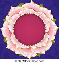 Pinker Blumenkreisrahmen