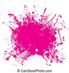 Pinker Grunge-Splat