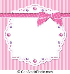 Pinker Rahmen mit Bogen
