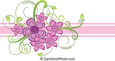 Pinkes Blumengrenzdesign
