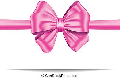 Pinkes Geschenkband mit Bogen