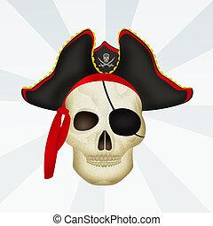 pirat, totenschädel
