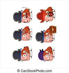 piraten, emoticons, fleisch, verschieden, zeichen, karikatur