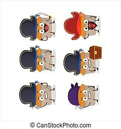 piraten, torte, emoticons, fleisch, verschieden, zeichen, karikatur