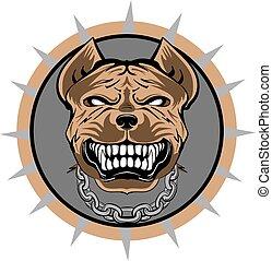 Pitbull stylisierte VECTOR-Logo.