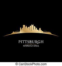 Pittsburgh Pennsylvania City Skyline Silhouette. Vektor Illustration