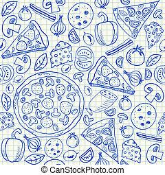 Pizza-Doodles nahtlos
