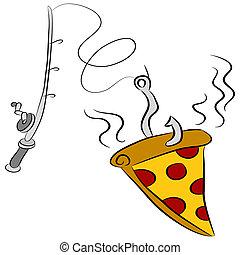 Pizza-Fischköder