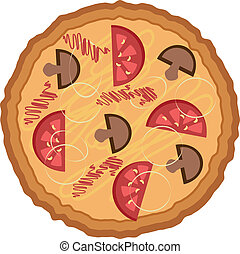 Pizza, Kartoon.