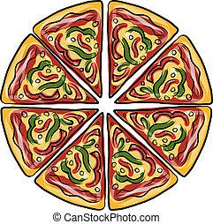Pizza, Sketch für dein Design