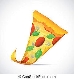 Pizza-Zeichen-Zeichentrickfilm