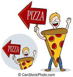 Pizzakostüm Beförderung