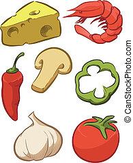 Pizzazutat - Tomaten, Käse