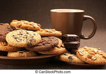 pl�tzchen, verschieden, bohnenkaffee