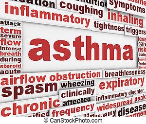 plakat, asthma, hintergrund