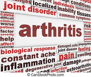plakat, begriff, krankheit, arthritis