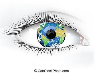 Planet Erde-Auge enteignet