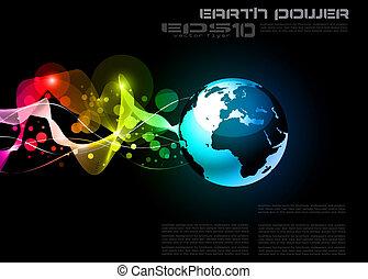planet erde, begriff, design, hintergrund
