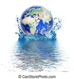 Planet Erde wie Wassertropfen