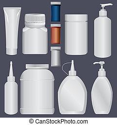 Plastikflasche und Lotion Plastik T