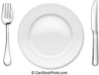 Plate mit Besteck