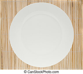 Platzmatte und Teller