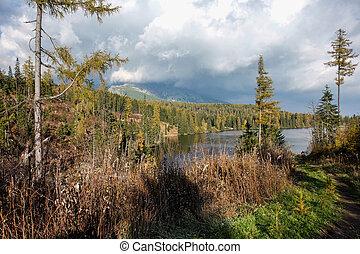 pleso, berg, szene, strbske, natur, schöne , see, slowakei, tatra, -