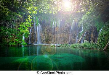 Plitvice Wasserfälle.