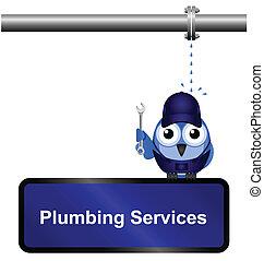 Plumbing Service Schild