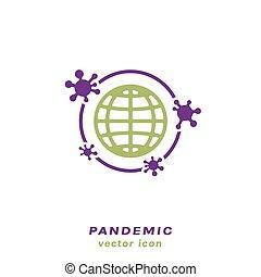 pneumonia, ikone, grippe, pandemisch