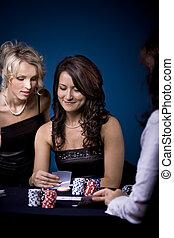 Poker-Mädchen.